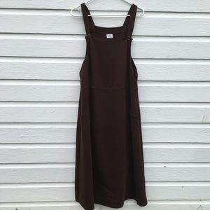 Vintage brown midi dress xl